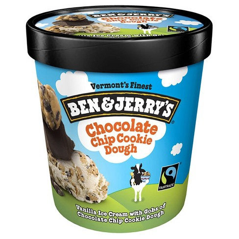 Ben & Jerry's Ice Cream Chocolate Chip Cookie Dough - 16oz - image 1 of 4