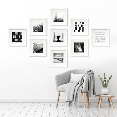 "(Set of 9)8"" x 8"" Matted Set White - Made By Design™"
