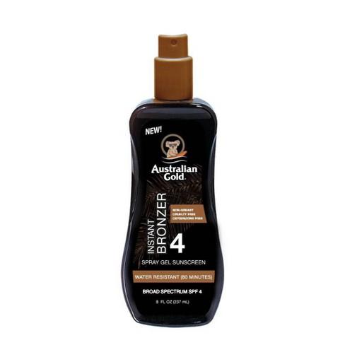 Australian Gold Sunscreen  Spray Gel with Instant Bronzer - SPF 4 - 8oz - image 1 of 3