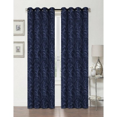 Regal Home 2 Pack: Arbor 100% Blackout Floral Thermal Grommet Curtains