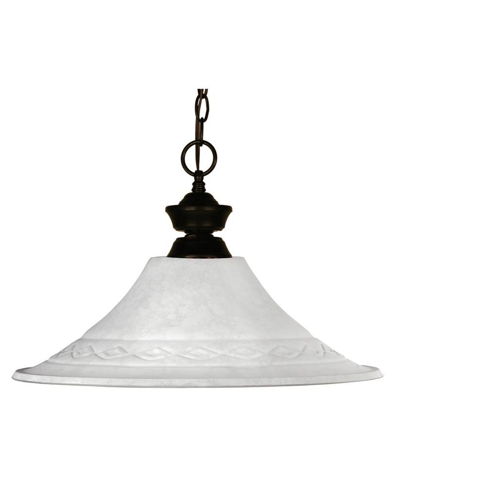 Pendant with White Mottle Glass Ceiling Lights - Z-Lite