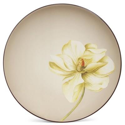 Noritake Colorwave Chocolate Magnolia Floral Accent Plate