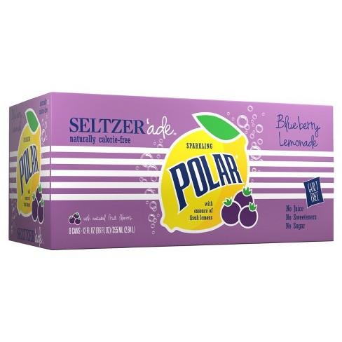 Polar Seltzerade Blueberry Lemonade - 8pk/12 fl oz Cans - image 1 of 2