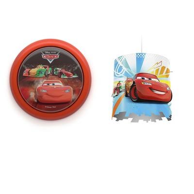 Philips Disney Pixar Cars Night Light w/ Philips Disney Pixar Cars Lampshade