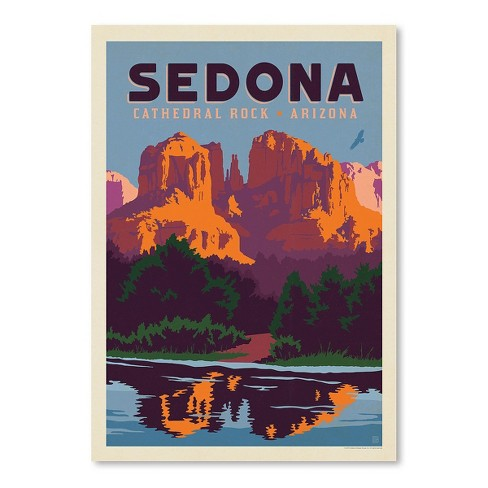 Americanflat Sedona Az By Anderson Design Group 18 X24 Poster Art Print Target