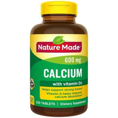 Vitamins & Supplements: Nature Made Calcium