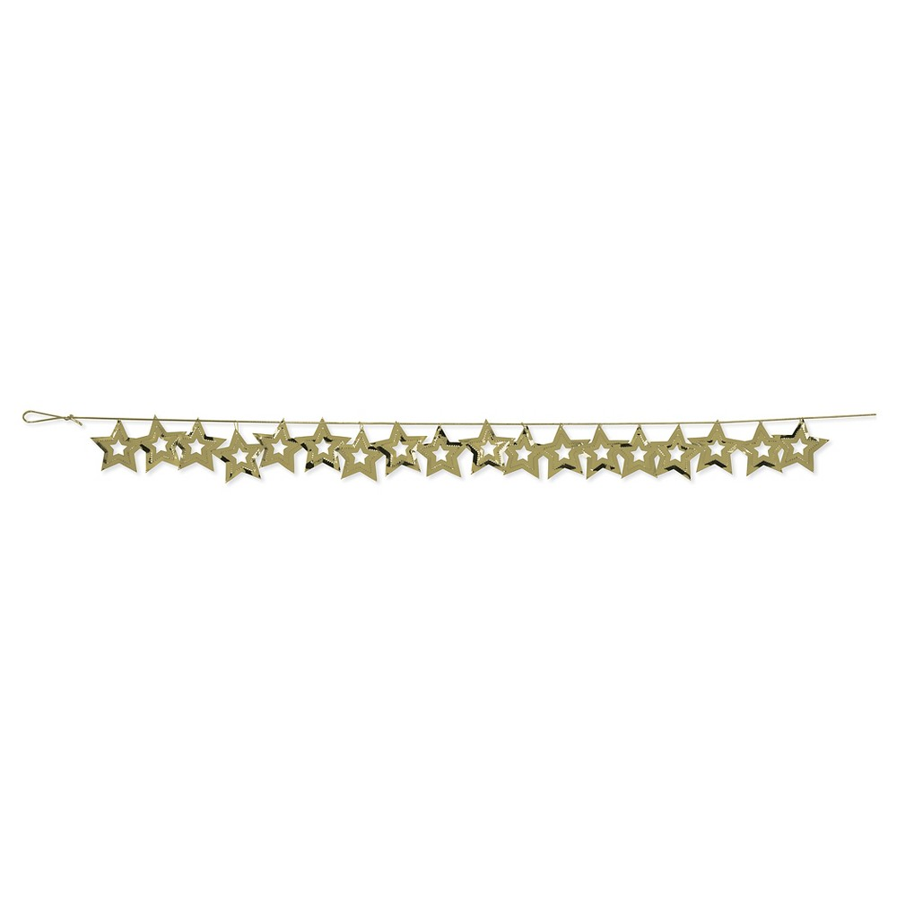 Image of 1ct Gold Stars Confetti Garland
