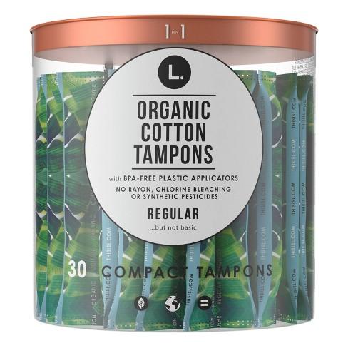 L. Organic Cotton Tampons - Regular - 30ct - image 1 of 4