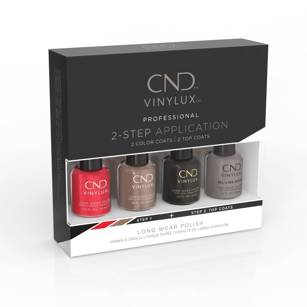 Image of CND Vinylux Best Seller Nail Polish Set Classic Pinkie Pack Pink/Red - 4ct