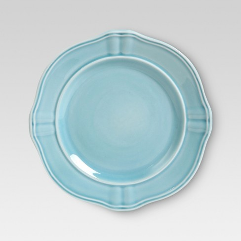 "Wellsbridge Ceramic Salad Plate 8.5"" Aqua - Threshold™ - image 1 of 1"