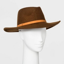 Women's Felt Wide Brim Fedora Hat - Universal Thread™ Brown