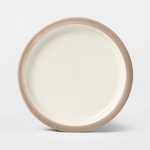 """8.9"""" Porcelain Ollers Salad Plate White/Brown - Project 62™ - image 1 of 1"""
