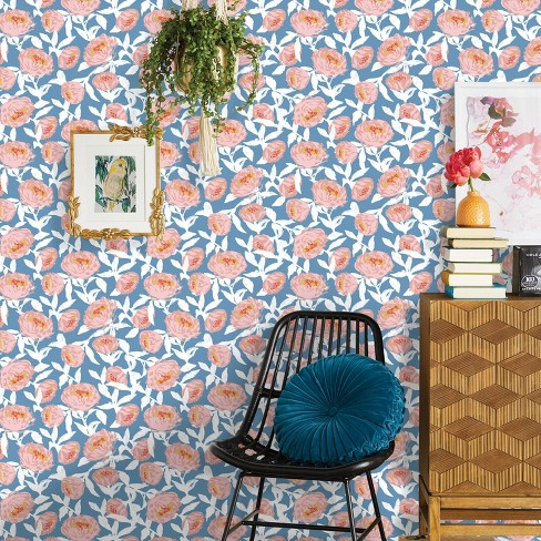 Floral Peel Stick Wallpaper Opalhouse Target