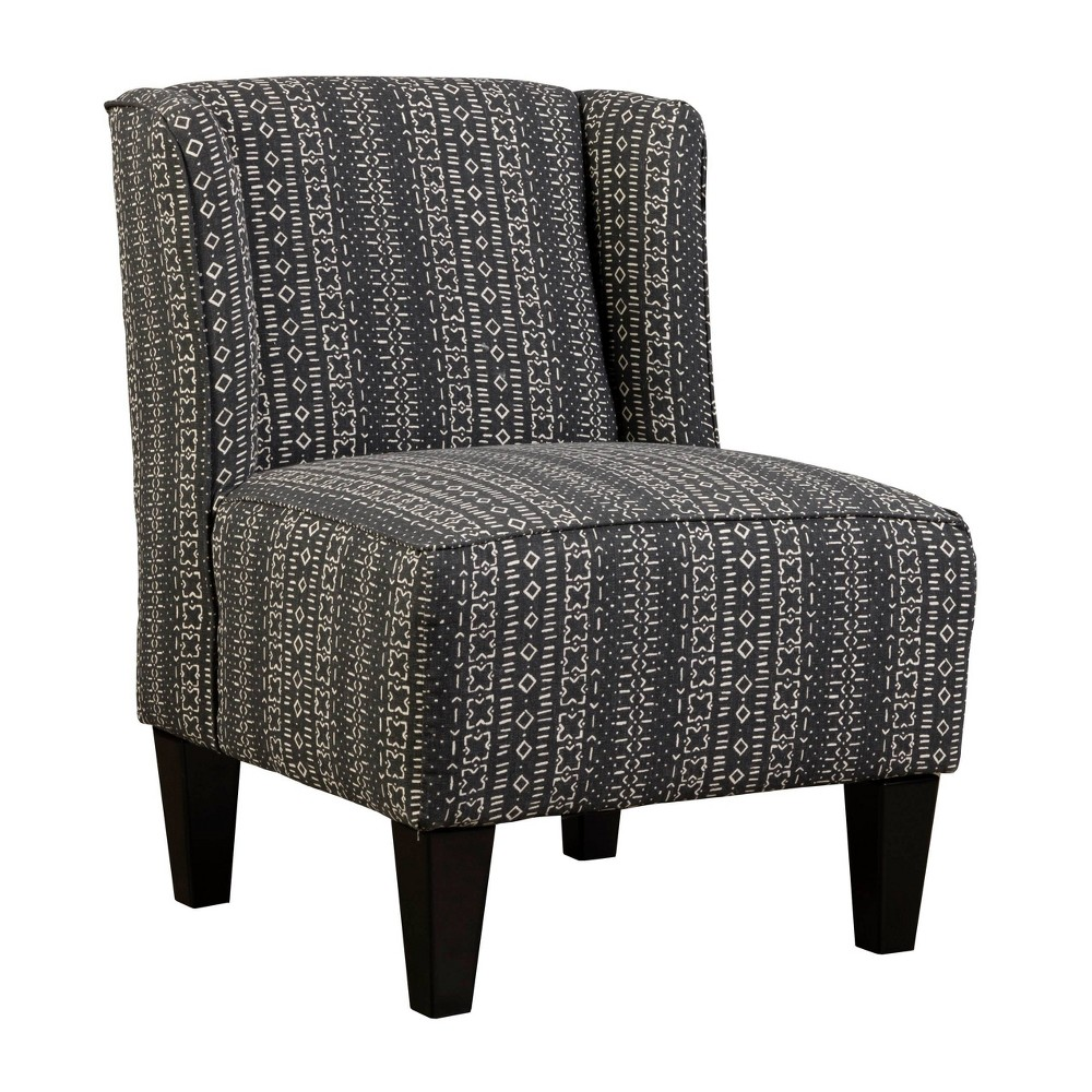 Image of Charlie Winged Slipper Chair Global Print Black - Chapter 3