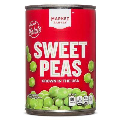 Whole Sweet Peas 15 oz - Market Pantry™