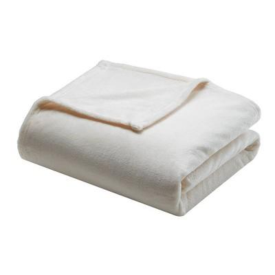 Microlight Plush Blanket (Full/Queen)Ivory