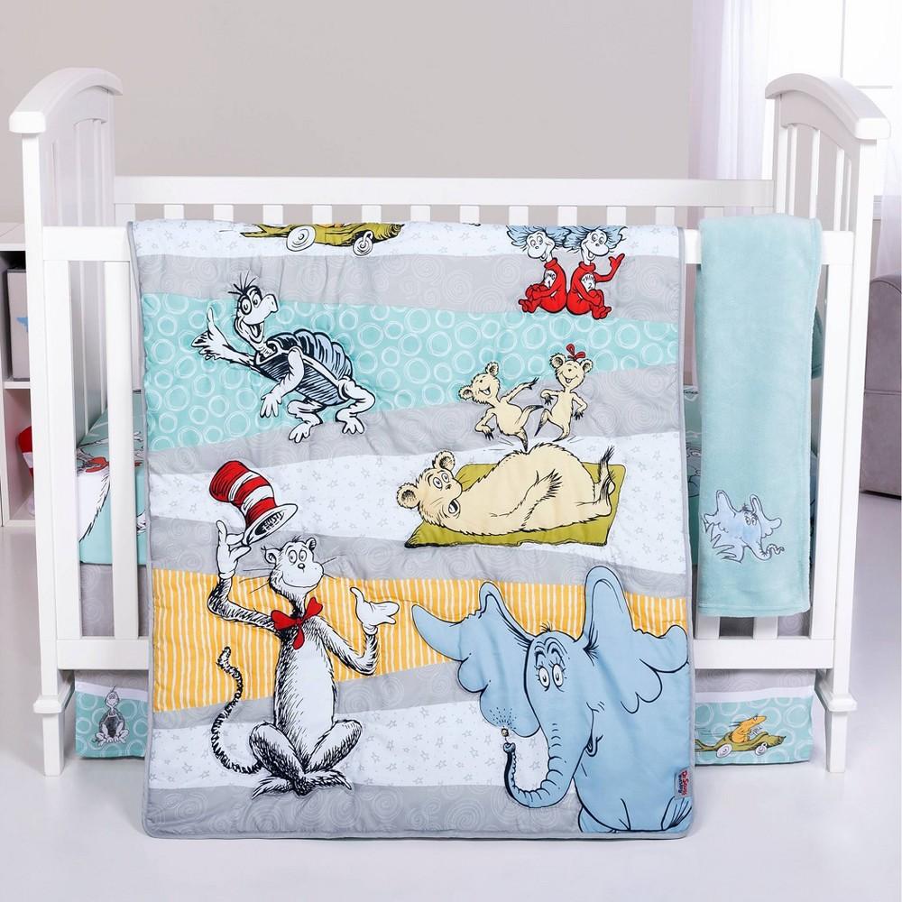 Image of Dr. Seuss Book Club 4 Piece Crib Bedding Set