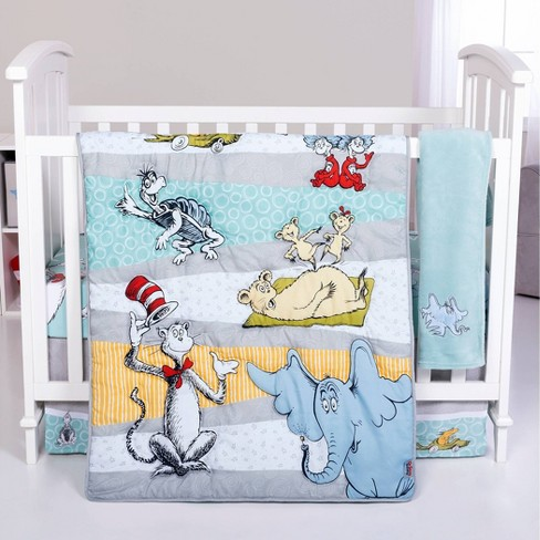 Dr Seuss Book Club 4 Piece Crib, Dr Seuss Crib Bedding