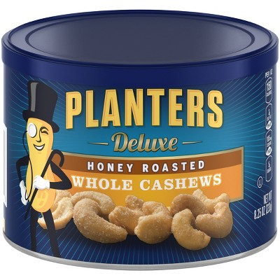 Nuts & Seeds: Planters Deluxe Whole Cashews Honey Roasted