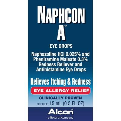 Alcon Naphcon-A Eye Allergy Relief Eye Drops - 0.5oz