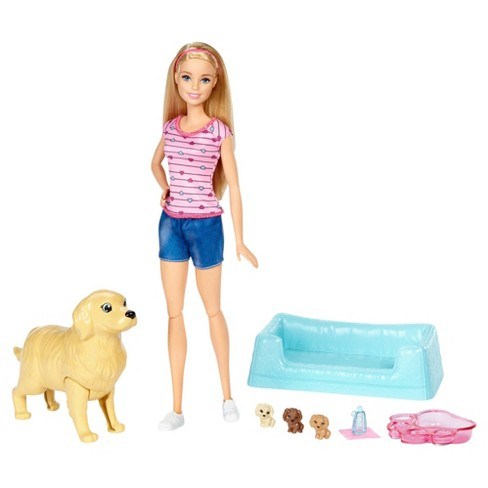 Barbie® Newborn Pups and Doll Playset - image 1 of 10
