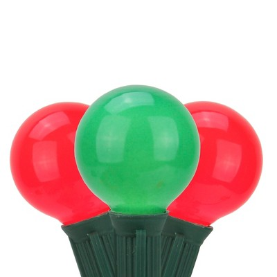 Northlight 20ct Opaque G50 Globe Christmas Lights Red/Green - 19' Green Wire