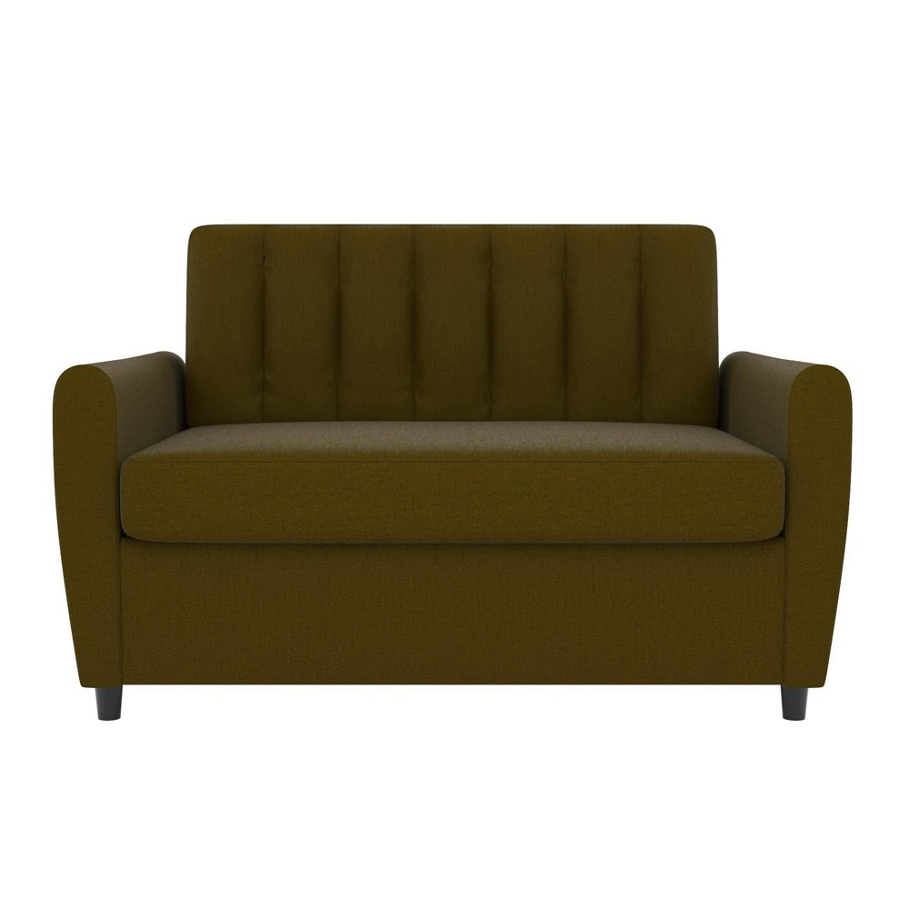 Brittany Sleeper Sofa with Memory Foam Mattress Green - Novogratz