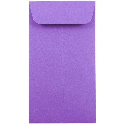 JAM Paper 50pk 3 1/2 x 6 1/2 #7 Coin Business Envelopes - Purple Recycled