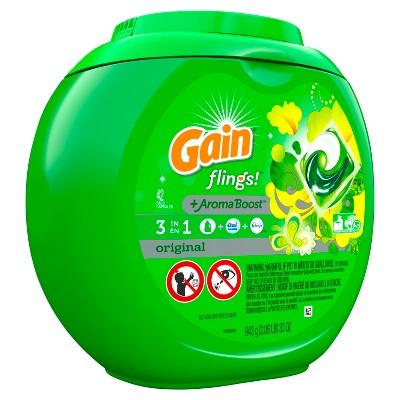 Gain flings! Original Scented Laundry Detergent Pacs - 42ct