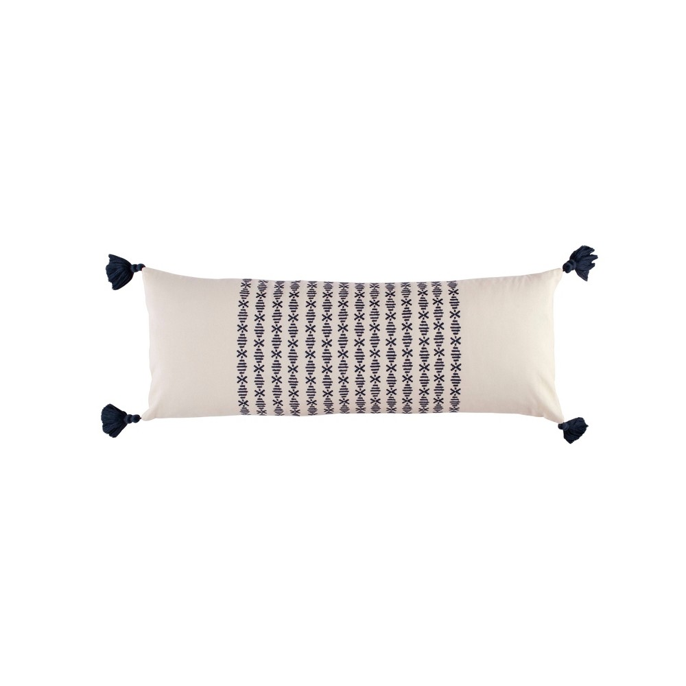 Image of Novogratz 12x30 Layla Throw Pillow Navy, Blue