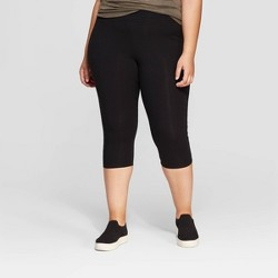cd4f8a785 Women s Plus Size Capri Leggings - Ava   Viv™ Black