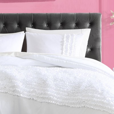 Romantic Ruffles Solid Comforter Set - Betseyville