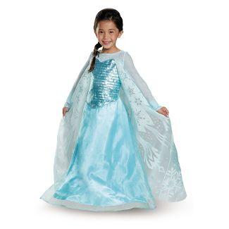 Girls' Frozen Elsa Deluxe Exclusive Halloween Costume S