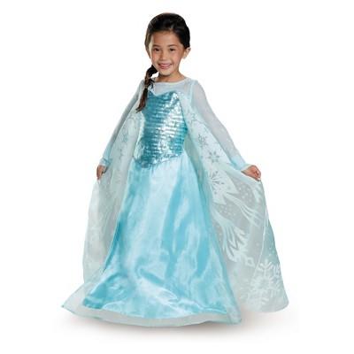 High Quality Girlsu0027 Disney Princess Elsa Deluxe Exclusive Halloween Costume