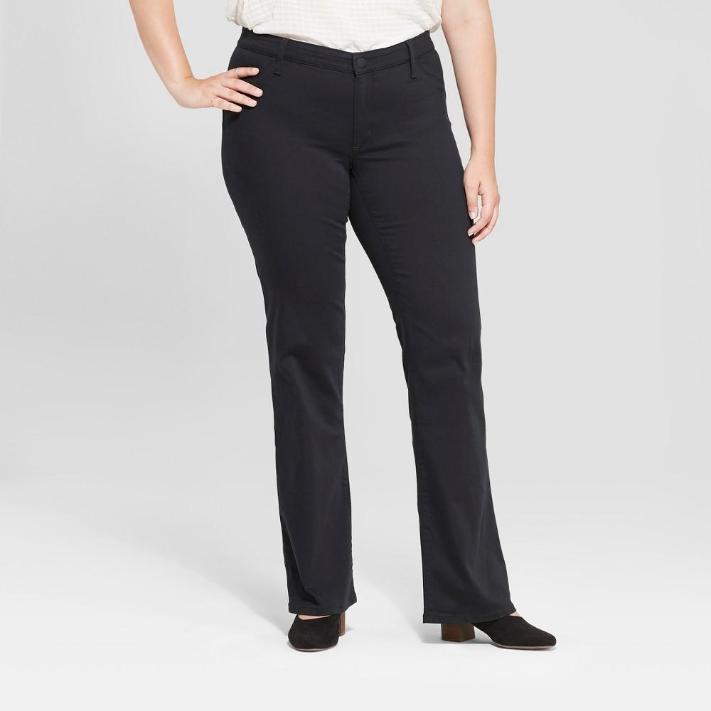 Women's Plus Size Adaptive Bootcut Jeans - Universal Thread Black 20W