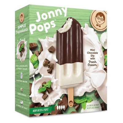 JonnyPops Vanilla Mint Chocolate & Cream Frozen Bars - 4pk/8.25oz