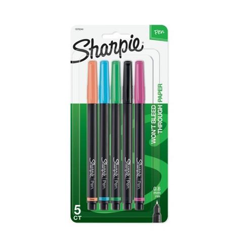5pk Marker Pens Fine Tip .8mm Multicolor - Sharpie - image 1 of 4
