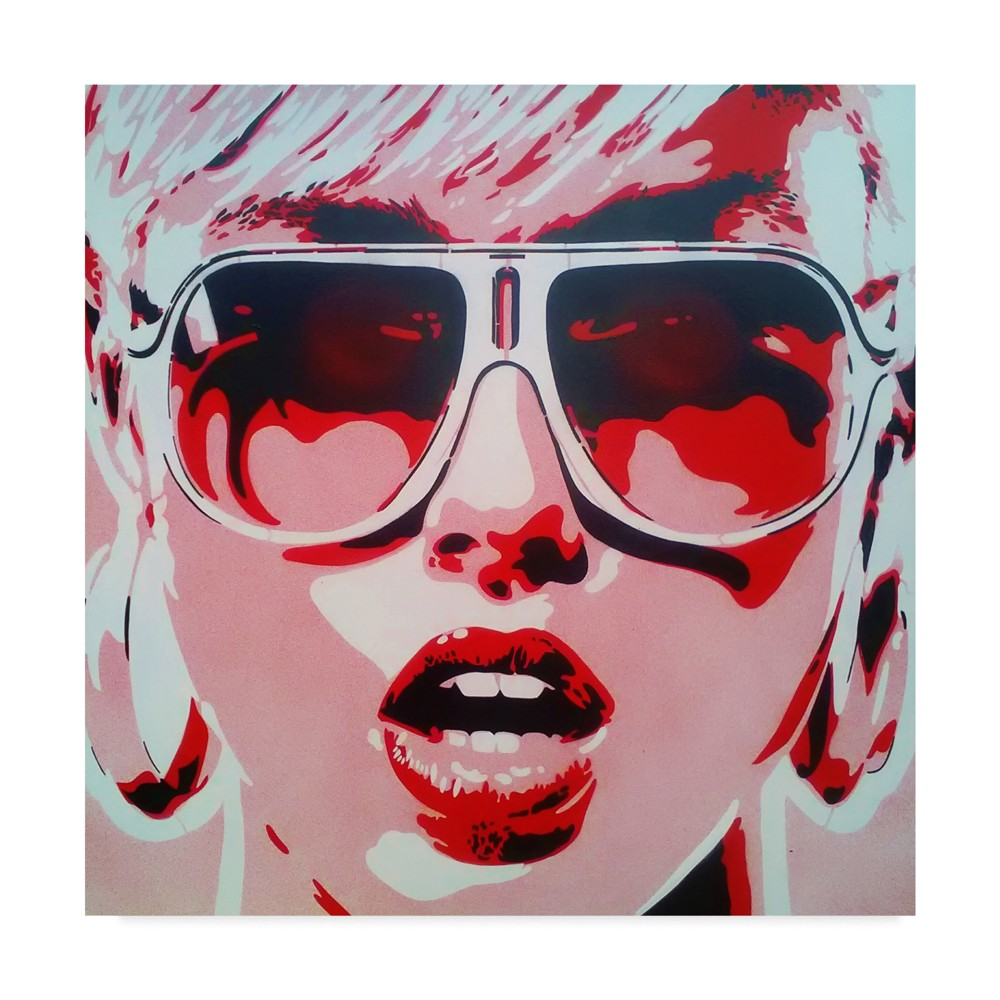 Abstract Graffiti Pop Star Red White Unframed Wall 24