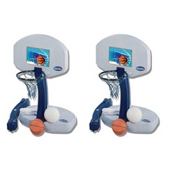 SwimWays 2-In-1 Volleyball And Basketball Swimming Pool Water Game Set (2 Pack)