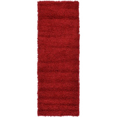Solid Shag Rug Cherry Red - Unique Loom