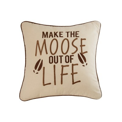 C&F Home Moose Out of Life Pillow