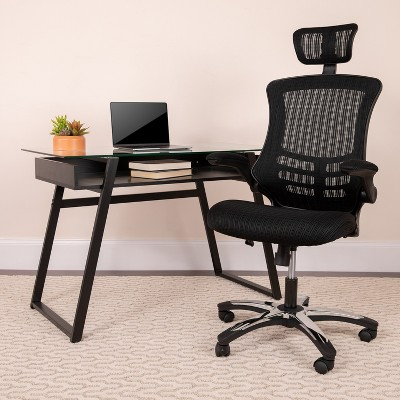 Emma and Oliver High Back Mesh Executive Office and Desk Chair with Adjustable Headrest