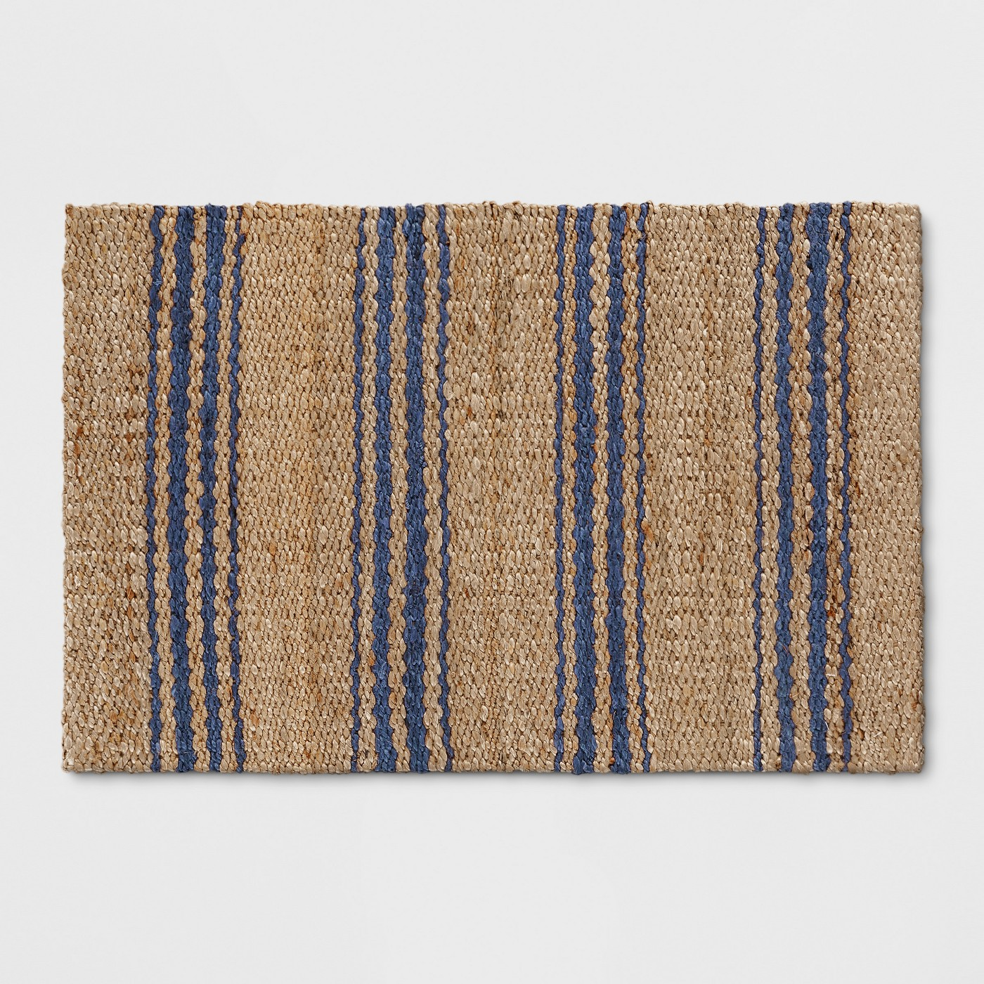 Navy Stripe Jute Woven Accent Rug 2'X3' - Threshold™ - image 1 of 3