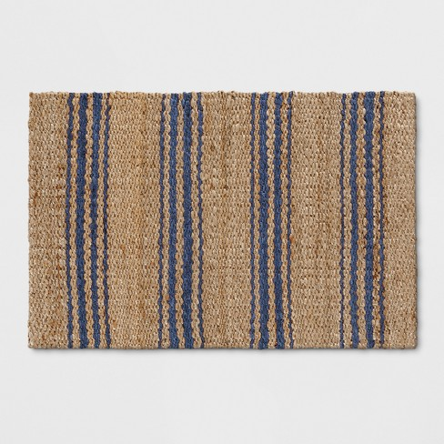 Navy Stripe Jute Woven Accent Rug 2 X3 Threshold Target