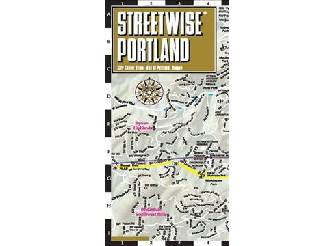 Streetwise Portland Map : City Center Street Map of Portland, Oregon (Paperback) - image 1 of 1