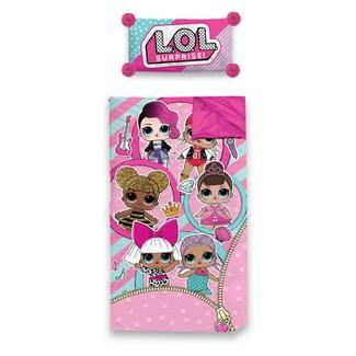 L.O.L. Surprise! Slumber Side Zip 40 Degree Sleeping Bag & Pillow Set