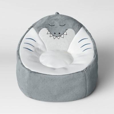 Kids' Character Bean Bag Shark Chair Gray - Pillowfort™