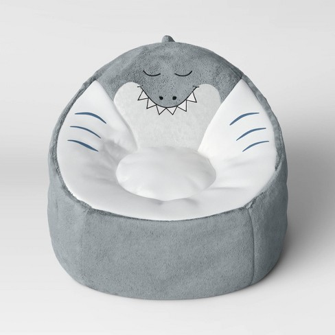Amazing Kids Character Bean Bag Shark Chair Gray Pillowfort Gmtry Best Dining Table And Chair Ideas Images Gmtryco