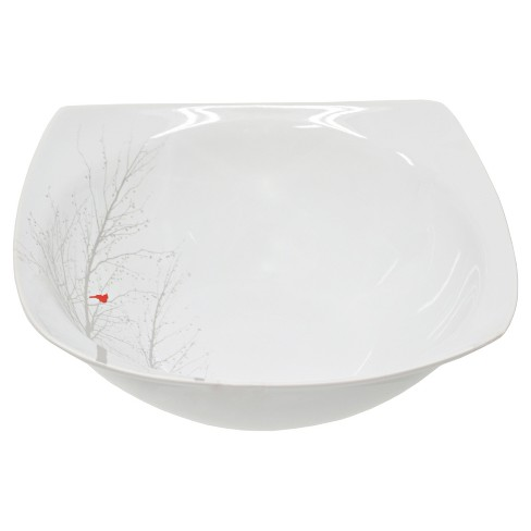 222 Fifth Winter Cardinal Porcelain Serving Bowl 10oz White - image 1 of 1
