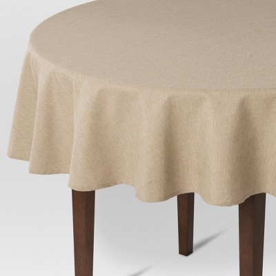 Tan Solid Tablecloth (70  Round)- Threshold™